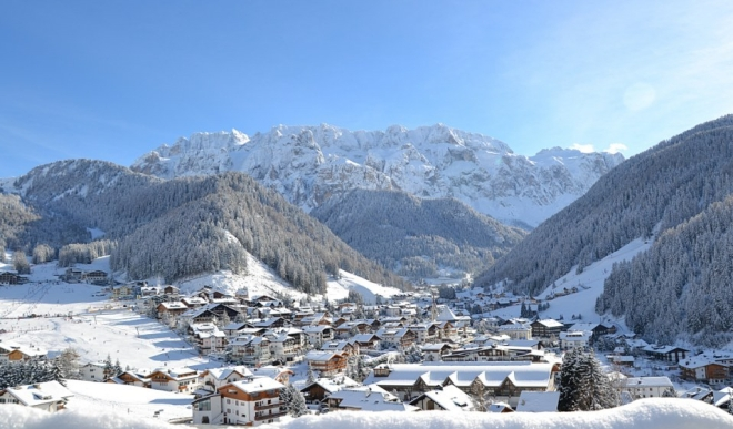 Ski town in the Italian Dolomites