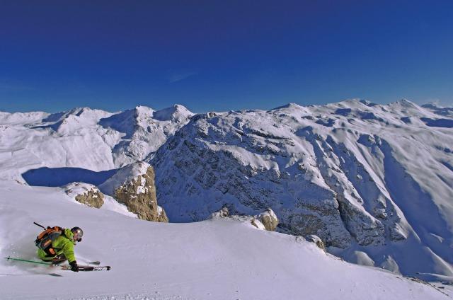 Skiing Top Down