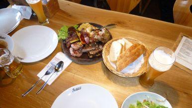 platefuls of food