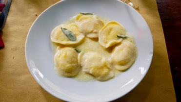 ravioli in sage herbed butter
